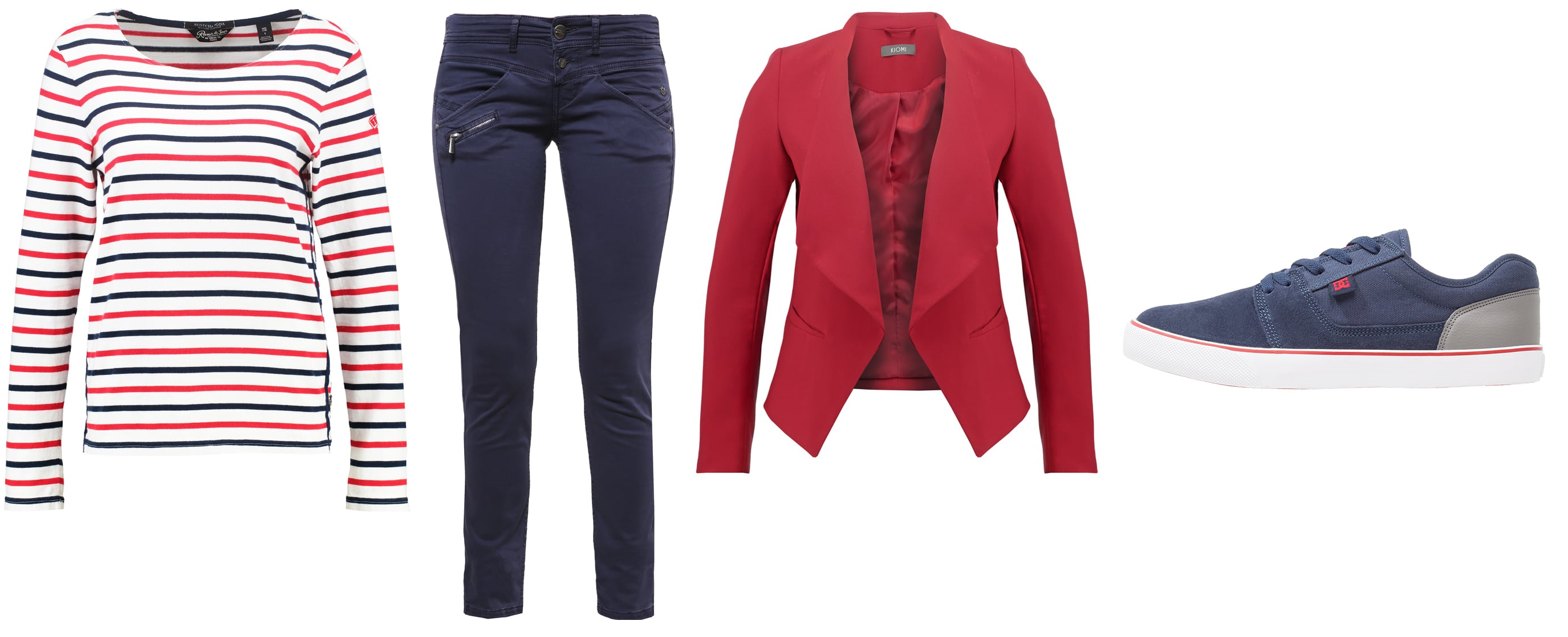 rood wit blauw outfit